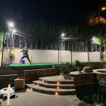 Custom Softball Batting Cage Net at a Private Residence – Nylon Softball Netting