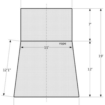 Nylon Netting and Nylon Nets Built to Customized Shapes and Sizes